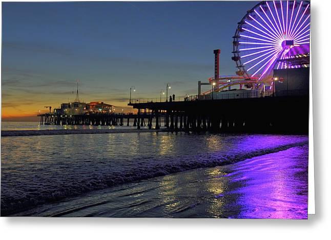 Sunset Purple Greeting Card