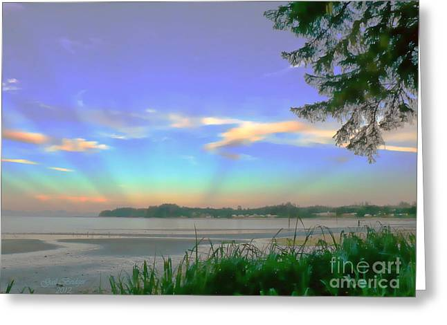 Sunset Rays Greeting Card
