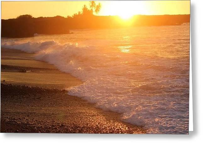 Sunset Rays Greeting Card by Nadi Leonard
