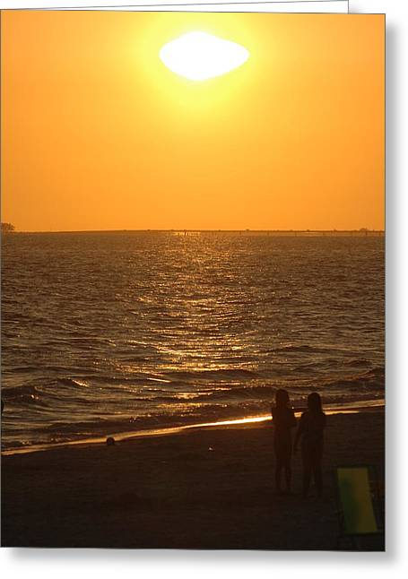 Sunset Greeting Card by Ronald T Williams