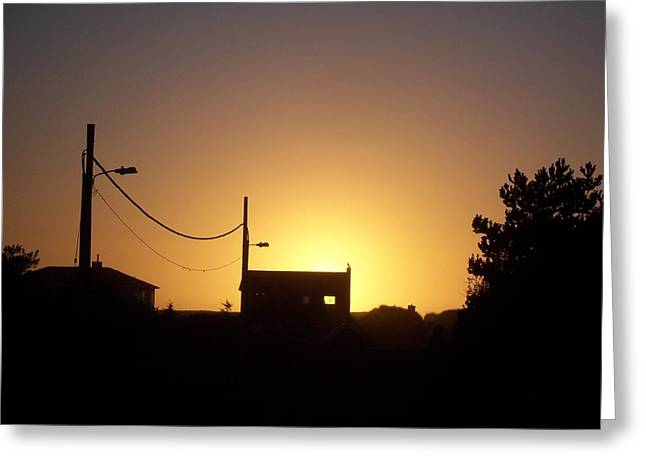 Sunset Silhouette Greeting Card by Peter Mooyman