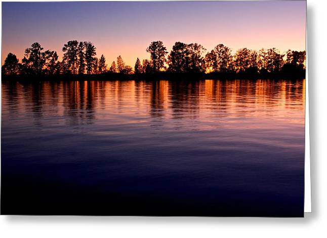 Greeting Card featuring the photograph Sunset Silhouette by Scott Holmes