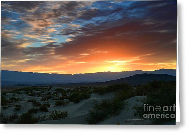 Sunset Sky Sand Dunes Death Valley National Park Greeting Card