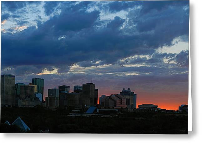 Sunset Skyline Edmonton Greeting Card