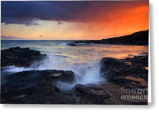 Sunset Storm Passing Greeting Card