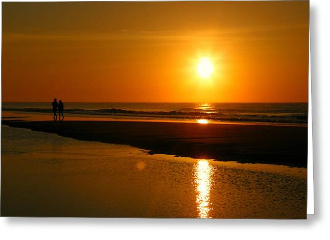 Greeting Card featuring the photograph Sunset Stroll by Mark J Seefeldt