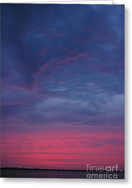 Greeting Card featuring the photograph Sunset Surprise by Tannis  Baldwin