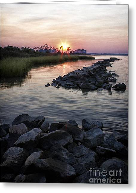 Sunset Greeting Card by Thanh Tran