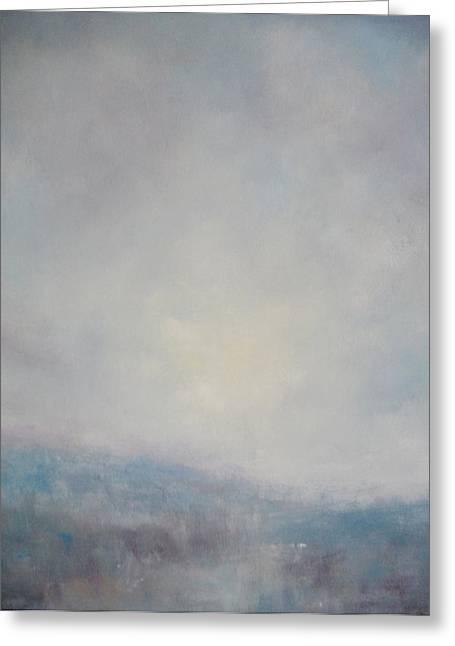 Sunset Through The Mist Over Stenbury Down Greeting Card by Alan Daysh