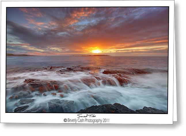 Sunset Tides - Cemlyn Greeting Card