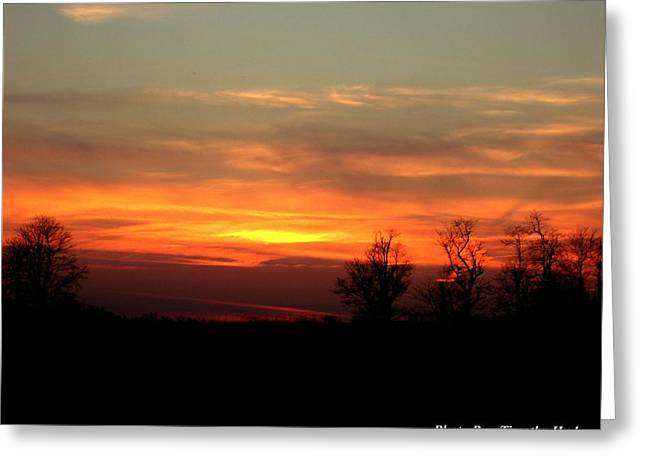 Sunset Greeting Card by Timothy Hudson
