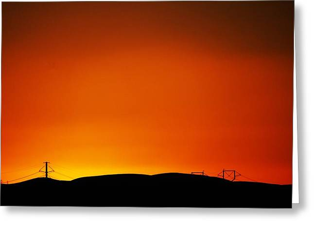 Sunset Towers Greeting Card by Michael Courtney