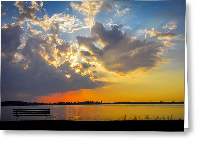 Sunset Greeting Card by Travis MacDonald