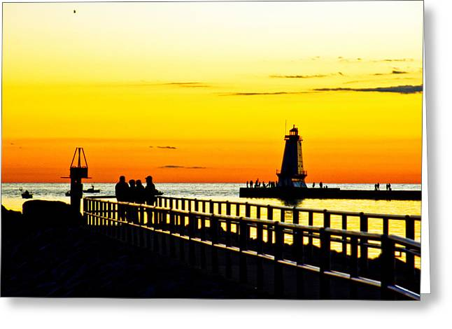 Greeting Card featuring the photograph Sunset Walk by Randall  Cogle