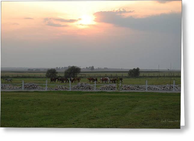Sunset Greeting Card by Zsolt Varga