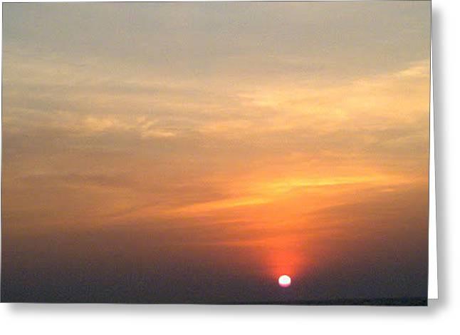 Sunset06 Greeting Card by Maneesha Mahapatra