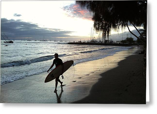 Sunsetsurf Greeting Card