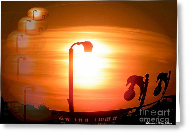Sunsetzies Greeting Card by Laurence Oliver