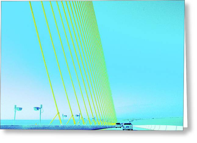 Greeting Card featuring the photograph Sunshine  Bridge by Lizi Beard-Ward