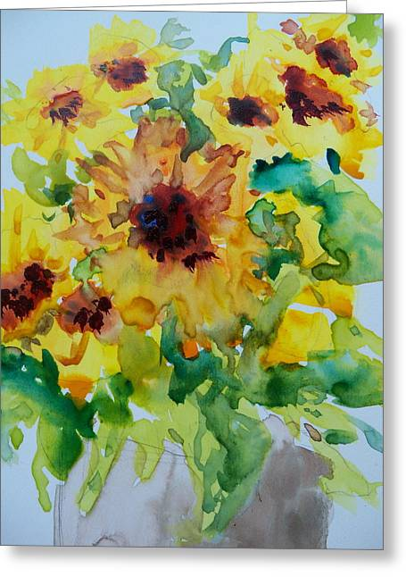Sunshine Bright Greeting Card by Sandy Collier