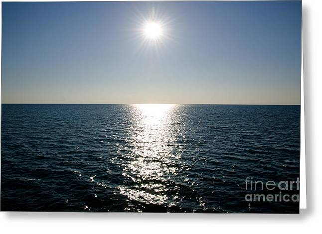 Sunshine Over The Mediterranean Sea Greeting Card