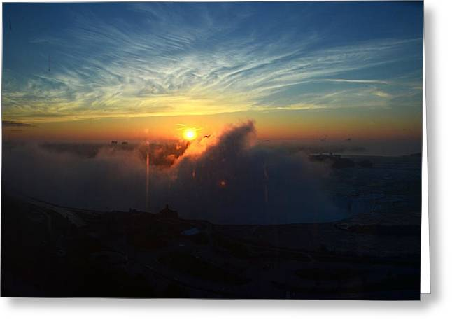 Greeting Card featuring the photograph Sunsrise At Niagara by Pravine Chester