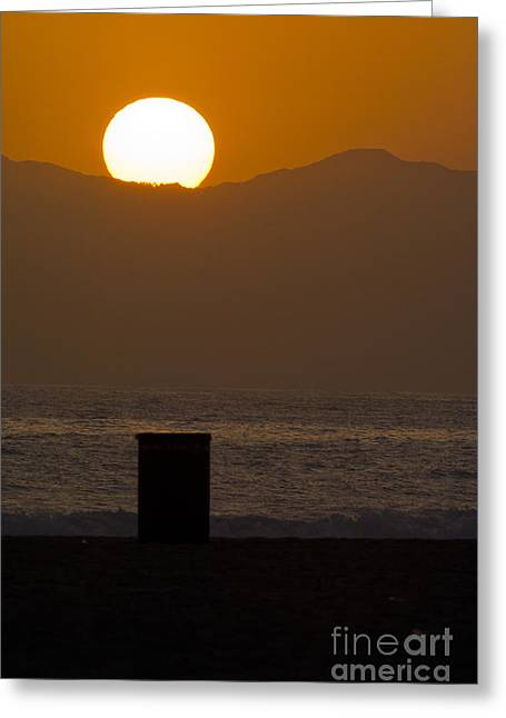 Sunst Over Malibu  Greeting Card by Micah May