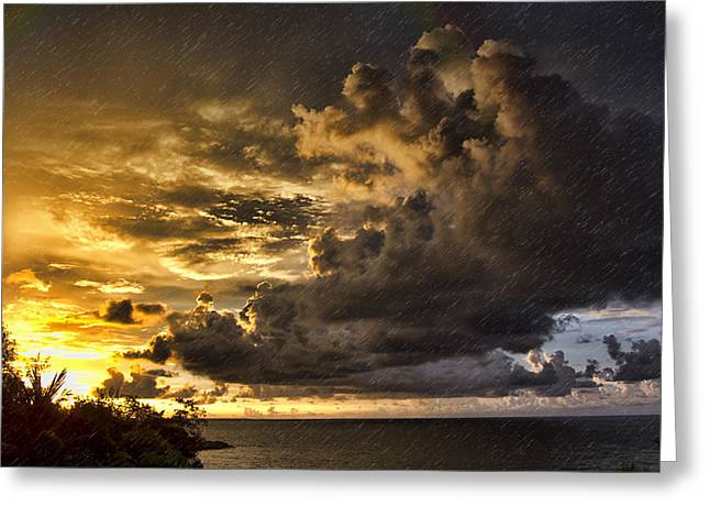 Sunstorm Greeting Card by Douglas Barnard