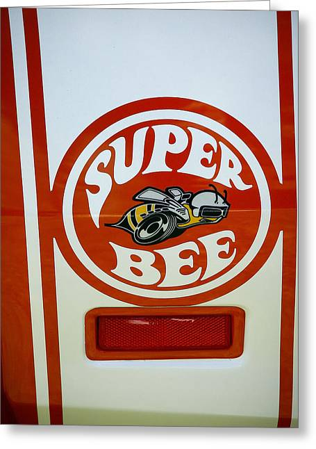 Super Bee Logo Greeting Card by Steve McKinzie