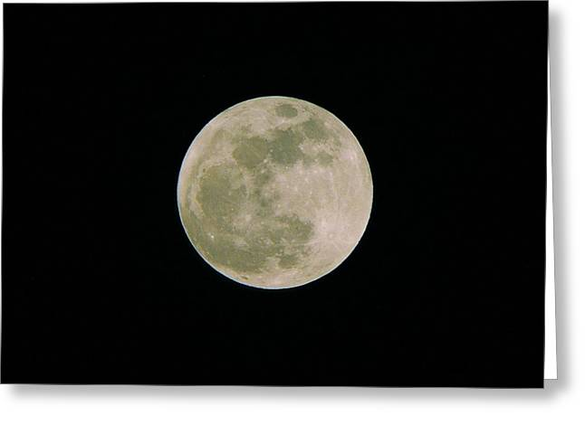 Greeting Card featuring the photograph Super Moon May 5  2012 by Brian Wright