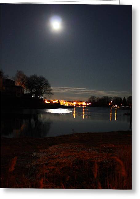Super Moon Night   2 Greeting Card by Mark Ashkenazi