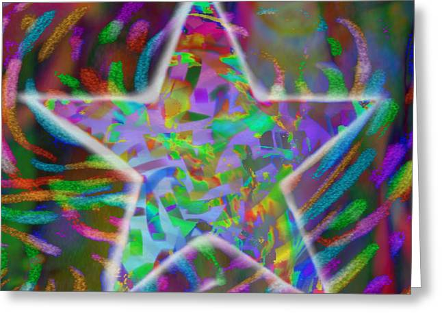 Super Star Greeting Card by Kevin Caudill
