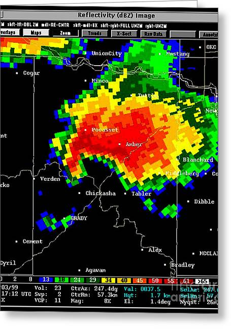 Supercell With Hook Echo, Radar Greeting Card