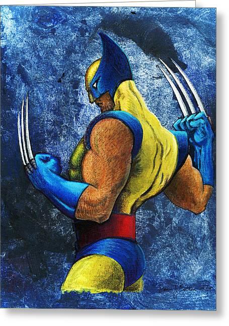 Superhero Greeting Card by Steve Benton