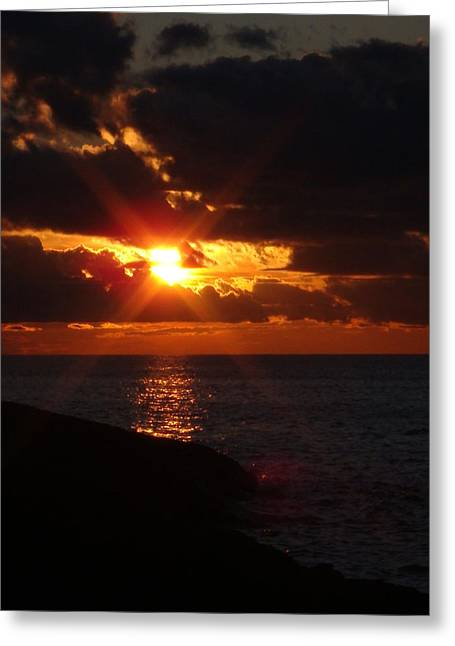 Superior Sunset Greeting Card