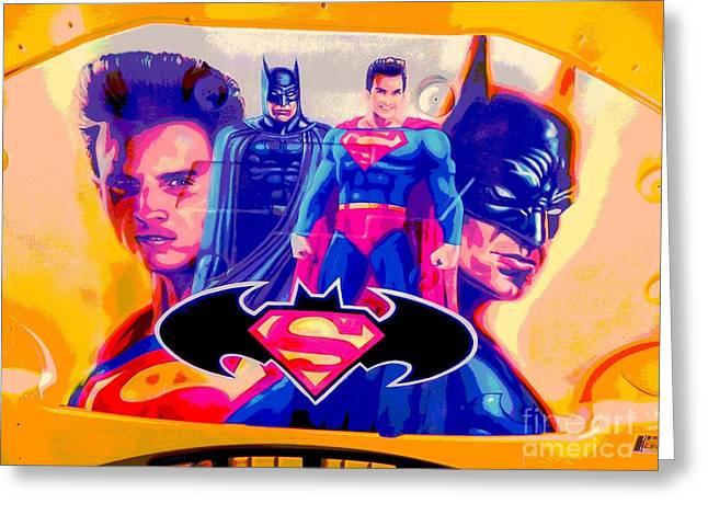 Superman Camaro Greeting Card by Chuck Re
