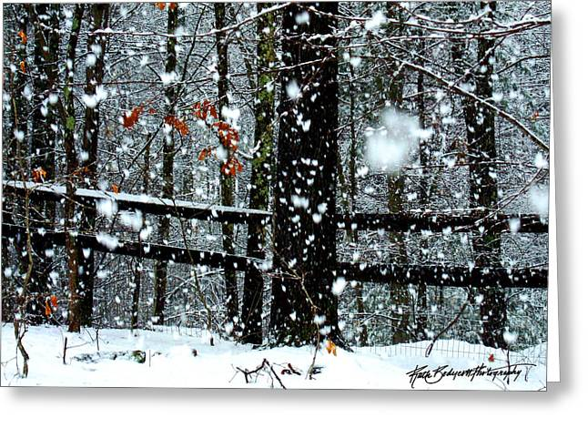 Supersized Snowflakes Greeting Card by Ruth Bodycott