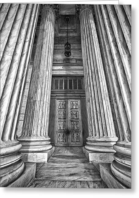 Supreme Court Building 11 Greeting Card by Val Black Russian Tourchin