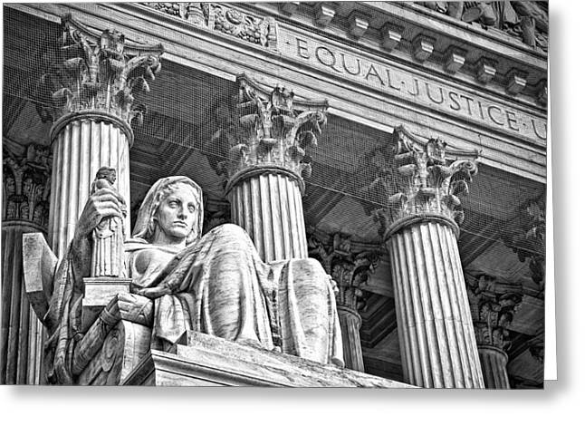 Supreme Court Building 17 Greeting Card by Val Black Russian Tourchin