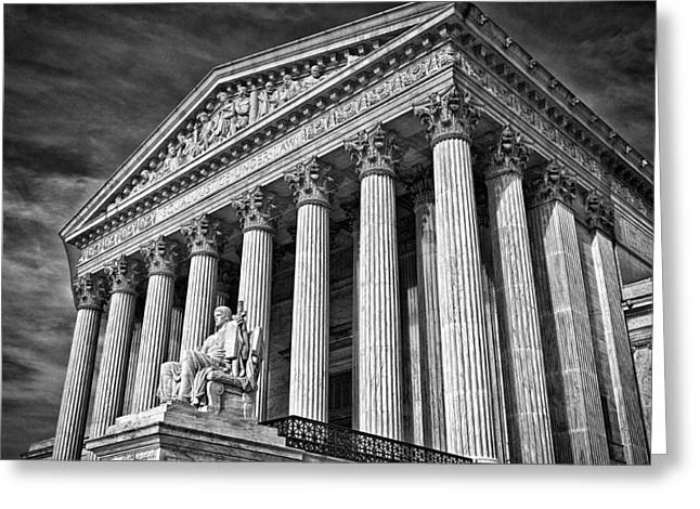 Supreme Court Building 5 Greeting Card by Val Black Russian Tourchin