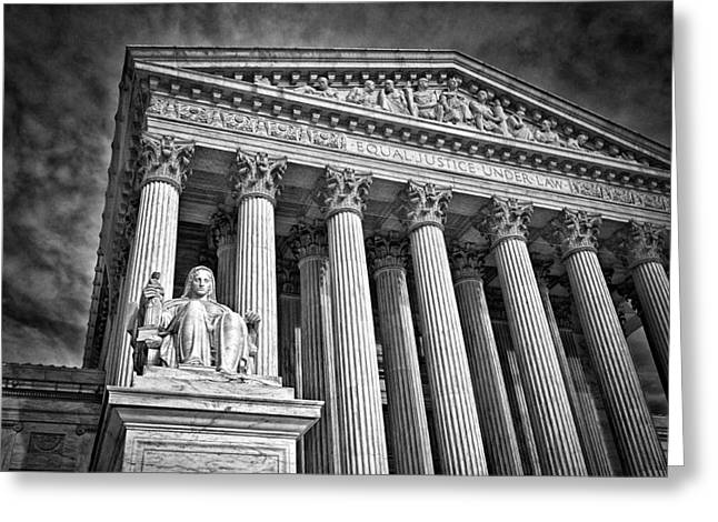 Supreme Court Building 6 Greeting Card by Val Black Russian Tourchin