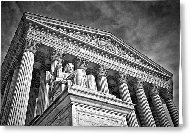 Supreme Court Building 7 Greeting Card by Val Black Russian Tourchin