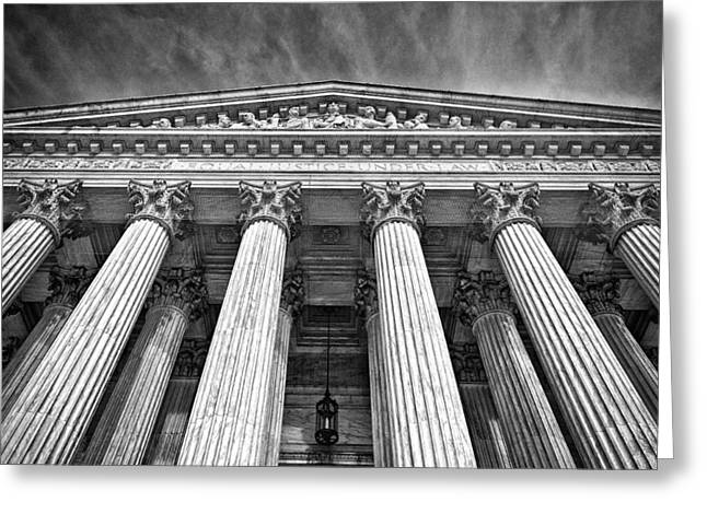 Supreme Court Building 9 Greeting Card by Val Black Russian Tourchin