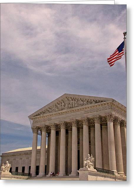 Supreme Court Greeting Card by Victoria Lawrence