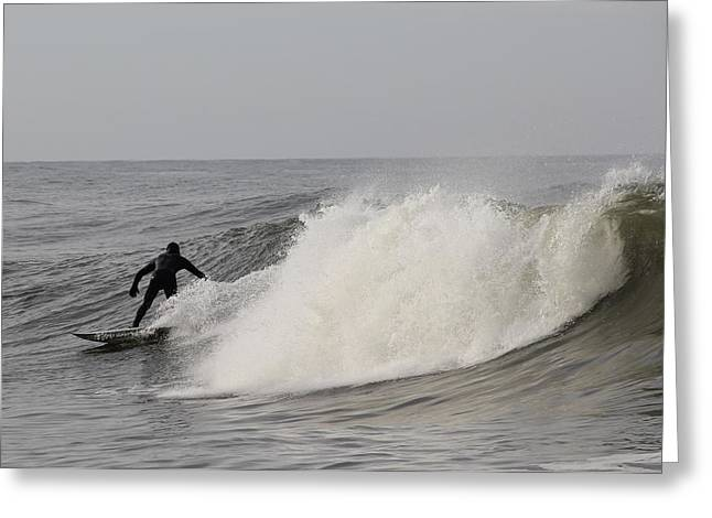 Surf 1 Greeting Card by Dan Madden