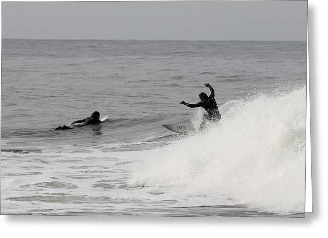 Surf 3 Greeting Card by Dan Madden