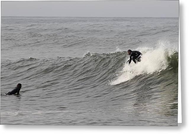 Surf 4 Greeting Card by Dan Madden
