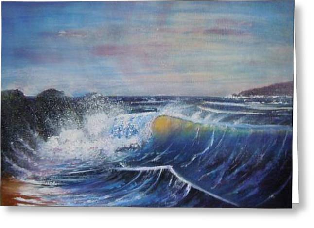 Surf At Croyde Bay Greeting Card by David Byrne