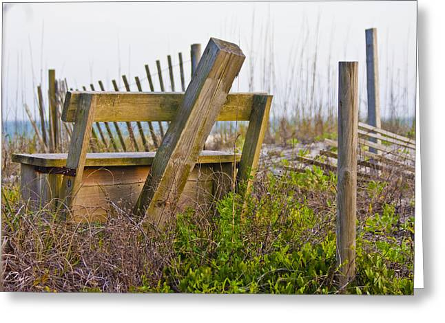 Surf City Chair Greeting Card by Betsy Knapp