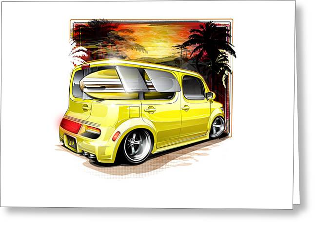 Surf Cube Greeting Card